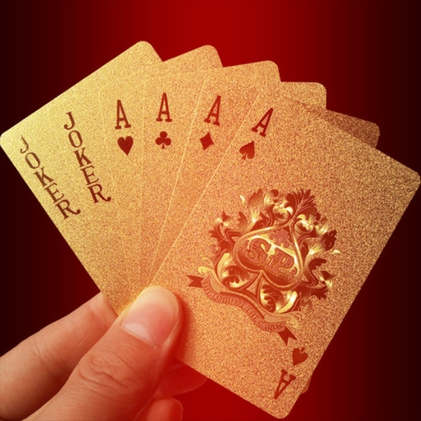 Golden-Playing-Cards-Deck-gold-foil-poker-set-Magic-card-24K-Gold-Plastic-foil-poker-Durable.jpg_640x640